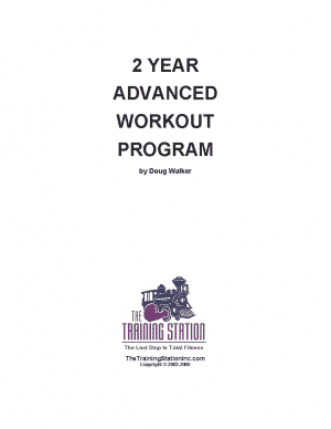 2 Year Advanced Workouts (eBook)